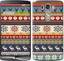 """Чохол на LG G3 D855 Різдвяний орнамент """"3303c-47"""""""