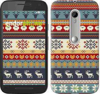 """Чехол на Motorola Moto G3 Рождественский орнамент """"3303u-318"""""""