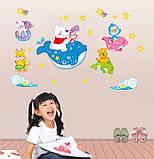 Дитячі наклейки на стіни, для дитячого садка, дитячий (07184), фото 3