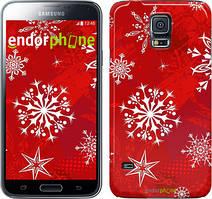 "Чехол на Samsung Galaxy S5 Duos SM G900FD Снежинка 2 ""3312c-62"""