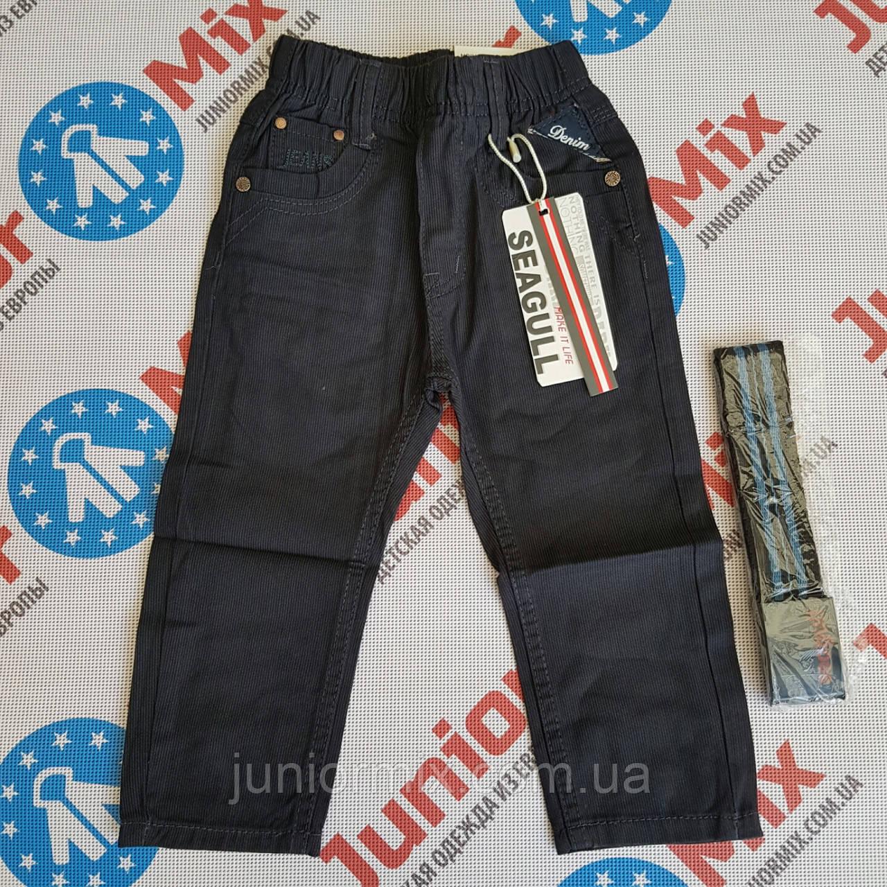 Катоновые брюки в полоску  на мальчика SEAGULL