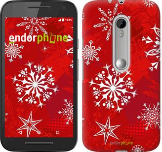 """Чехол на Motorola Moto G3 Снежинка 2 """"3312u-318"""""""