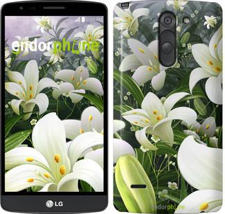"Чехол на LG G3 Stylus D690 Белые лилии ""2686c-89"""