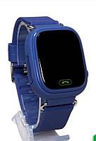 Детские умные gps часы Smart baby watch Q100 Dark Blue Оригинал На русском языке