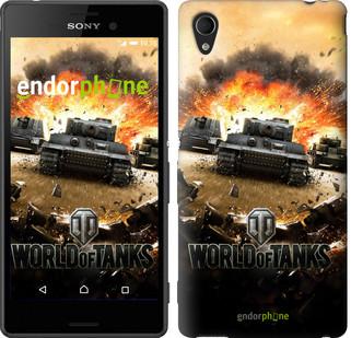 "Чехол на Sony Xperia M4 Aqua World of tanks v1 ""834c-162"""
