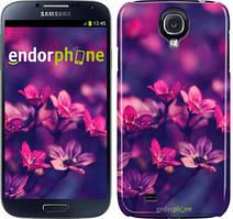 """Чохол на Samsung Galaxy S4 i9500 Пурпурні квіти """"2719c-13"""""""
