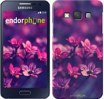 """Чохол на Samsung Galaxy A3 A300H Пурпурні квіти """"2719c-72"""""""