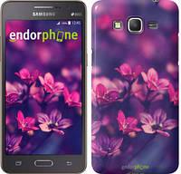 """Чехол на Samsung Galaxy Grand Prime VE G531H Пурпурные цветы """"2719c-212"""""""