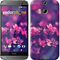 """Чохол на HTC One M8 Пурпурні квіти """"2719c-30"""""""