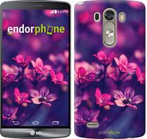 """Чохол на LG G3 D855 Пурпурні квіти """"2719c-47"""""""