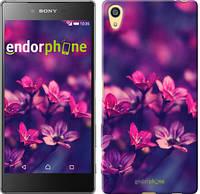 """Чехол на Sony Xperia Z5 Пурпурные цветы """"2719u-274"""""""