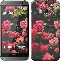 """Чохол на HTC One M8 Кущ з трояндами """"2729c-30"""""""