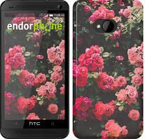"""Чохол на HTC One M7 Кущ з трояндами """"2729c-36"""""""