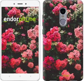 "Чехол на Xiaomi Redmi Note 4 Куст с розами ""2729c-352"""