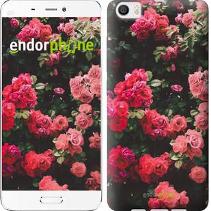"""Чехол на Xiaomi Mi5 Куст с розами """"2729c-180"""""""
