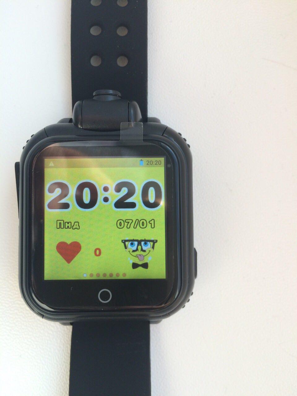 Дитячі розумні gps годинник Smart baby watch Q200(GW1000) 3G+камера Black Оригінал російською мовою
