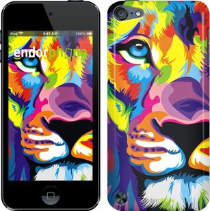 """Чехол на iPod Touch 6 Разноцветный лев """"2713c-387"""""""