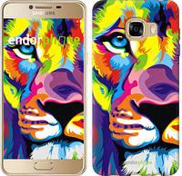 """Чехол на Samsung Galaxy C5 C5000 Разноцветный лев """"2713u-301"""""""