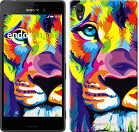 "Чехол на Sony Xperia Z3+ Dual E6533 Разноцветный лев ""2713u-165"""