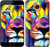 """Чехол на Meizu MX4 PRO Разноцветный лев """"2713u-132"""""""
