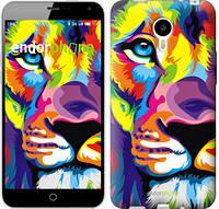 """Чехол на Meizu M1 Note Разноцветный лев """"2713u-172"""""""