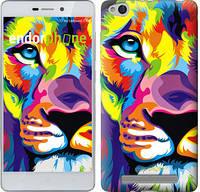 "Чехол на Xiaomi Redmi 3 Разноцветный лев ""2713c-97"""