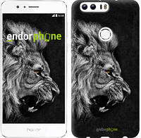 "Чехол на Huawei Honor 8 Лев ""1080u-351"""