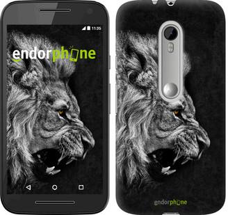 "Чехол на Motorola Moto G3 Лев ""1080u-318"""