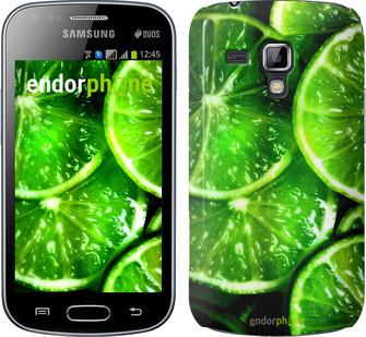 """Чехол на Samsung Galaxy S Duos s7562 Зелёные дольки лимона """"852c-84"""""""