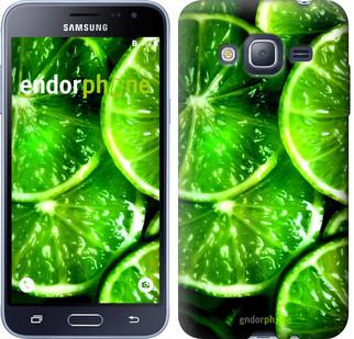 """Чехол на Samsung Galaxy J3 Duos (2016) J320H Зелёные дольки лимона """"852c-265"""""""