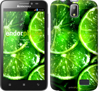 """Чехол на Lenovo A328 Зелёные дольки лимона """"852u-230"""""""
