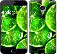"""Чехол на Meizu MX4 PRO Зелёные дольки лимона """"852u-132"""""""
