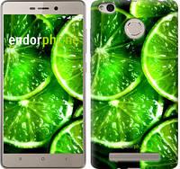 """Чехол на Xiaomi Redmi 3s Зелёные дольки лимона """"852c-357"""""""