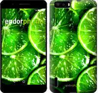 """Чехол на Huawei P9 Зелёные дольки лимона """"852u-347"""""""