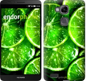 """Чехол на Huawei Ascend Mate 7 MT7-L09 Зелёные дольки лимона """"852u-140"""""""