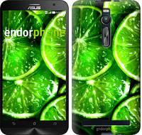 """Чехол на Asus Zenfone 2 ZE551ML Зелёные дольки лимона """"852c-122"""""""