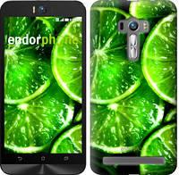 """Чехол на Asus ZenFone Selfie ZD551KL Зелёные дольки лимона """"852c-116"""""""
