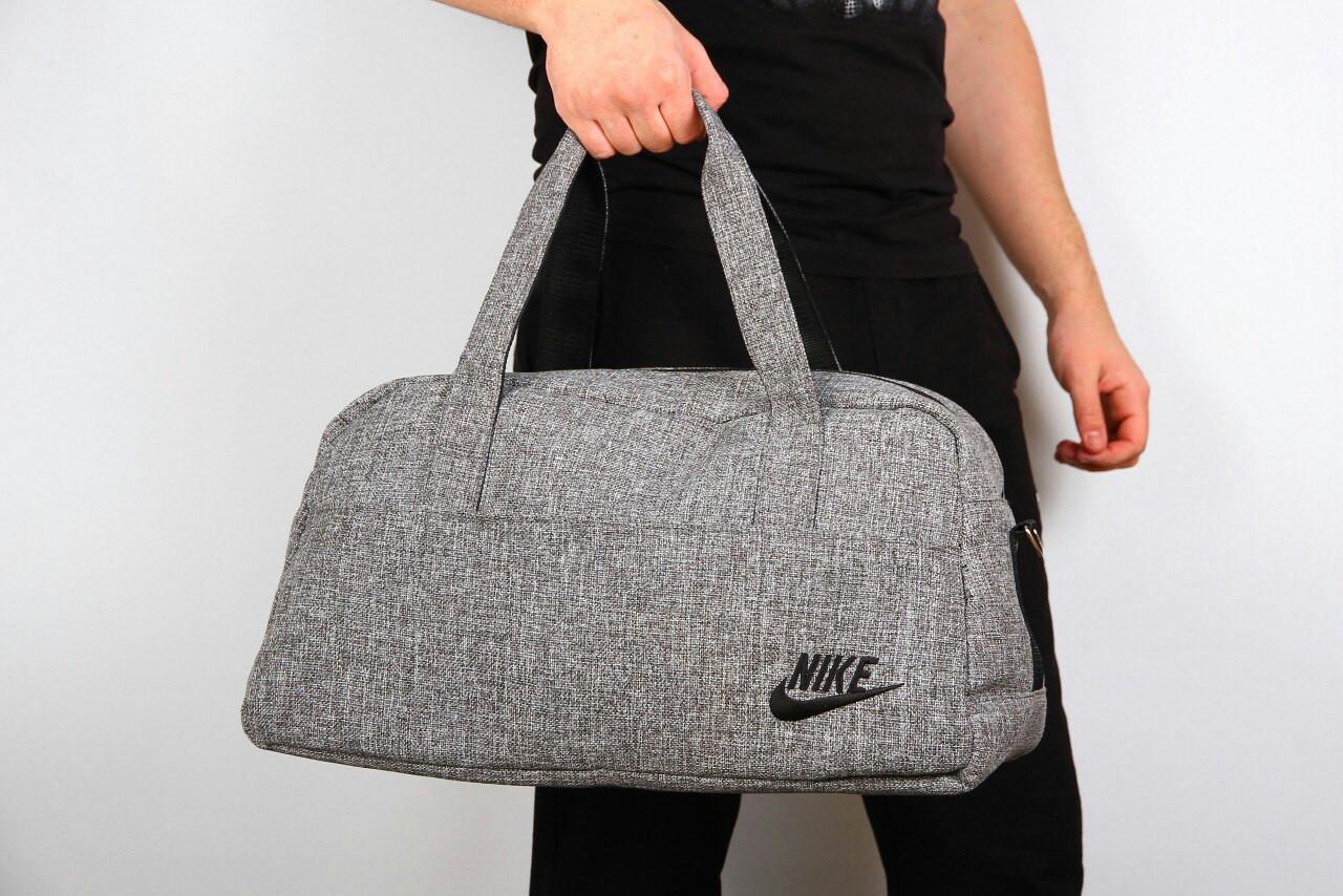 Спортивная сумка Nike  2017 ( ткань- серая  ) -реплика