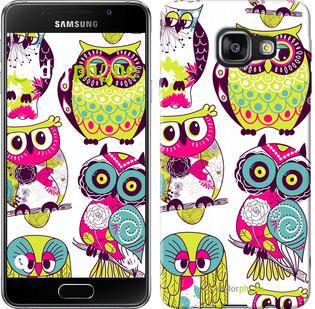 "Чехол на Samsung Galaxy A3 (2016) A310F Совы ""1805c-159"""
