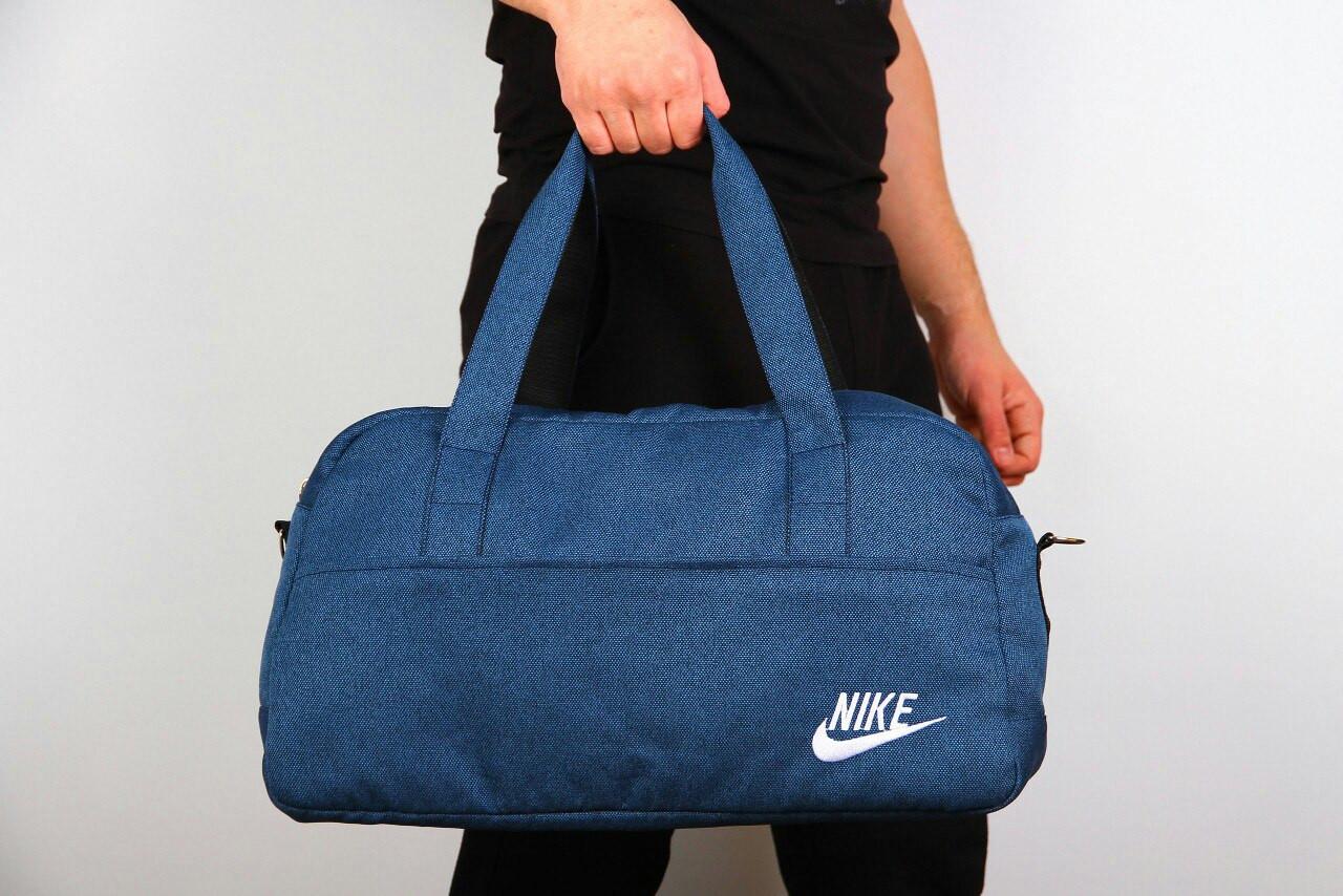 Спортивная сумка Nike  2017 ( ткань синяя ) -реплика