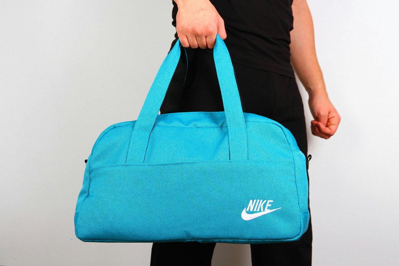 Спортивная сумка Nike  2017 ( ткань берюза ) -реплика