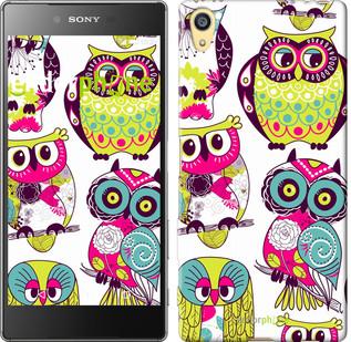 "Чехол на Sony Xperia Z5 Совы ""1805u-274"""