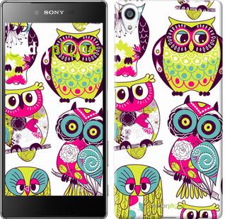 """Чехол на Sony Xperia Z5 Premium Совы """"1805u-345"""""""