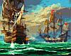 Картины по номерам на холсте 40×50 см. Морской бой
