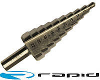 Сверло ступенчатое по металлу 4-12 мм  5 ступеней