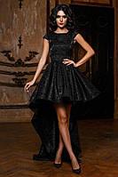 Женское платье в пол спереди короткое сзади длинные
