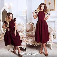 Женское платье из габардина