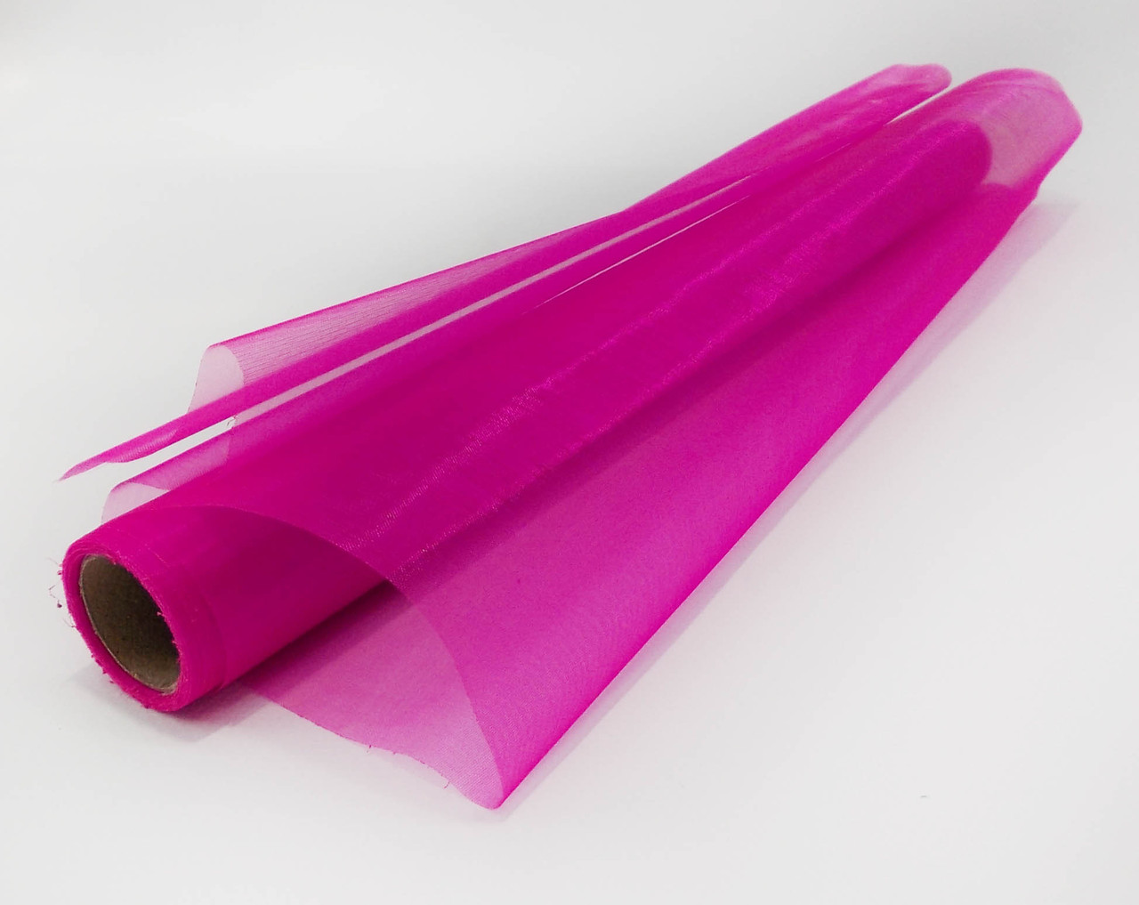 Органза простая декоративная фиолетовая
