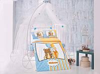 Комплект постельного белья Clasy Sweetbear Ранфорс 100*150 (в кроватку)