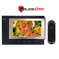 Комплект видеодомофона PoliceCam PC-701 (DVC-4Q) Встроенный блок питания